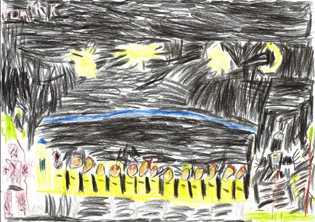 Celkový pohled na Pohádkové safari. Tomáš, 6 let.