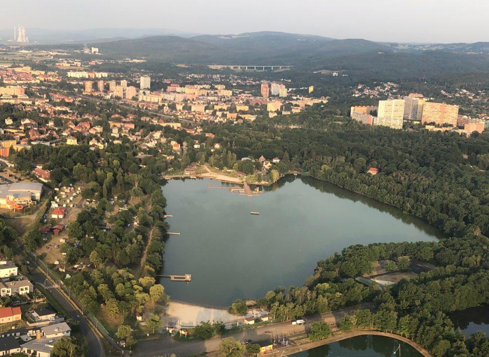 Kamencové jezero z výšky